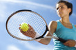 Girl Playing Tennis  - 55909423