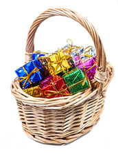 Basket with small gifts
