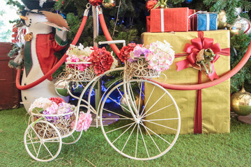 Mini vintage Bicycle with flower& gift