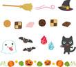 ハロウィンのライン素材