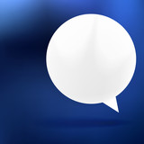 Abstract background with Speech bubble on blue.