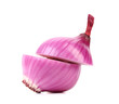 Cutted organic red onion.