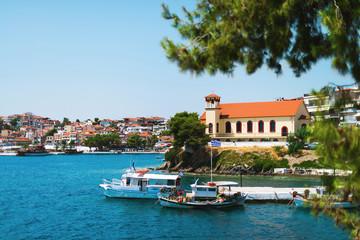 landscape of a greek town