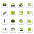 Email icons. Green gray series.