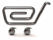 Illustration of silver shopping cart