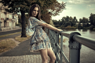 Fashion brunette woman