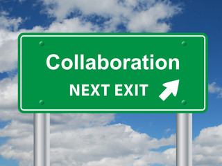"""COLLABORATION"" Sign (teamwork business management partnership)"