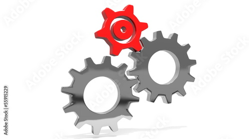 gears in two sizes and colors with alpha channel