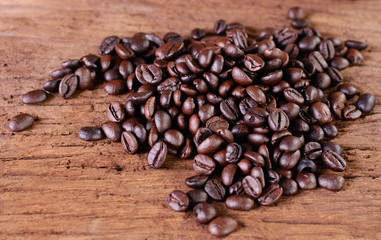Still life Arabica coffee beans