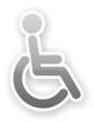 sticker of gray glossy wheelchair toilet symbol