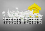 Chaotic clutter and home poster