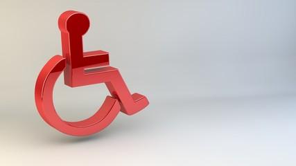 3D engelli sandalye işareti