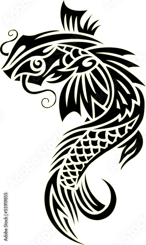 Vector image of an carp koi , illustration - vector
