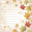 もみじ 和柄 ノート,バックグラウンド Ruled Maple leaves background