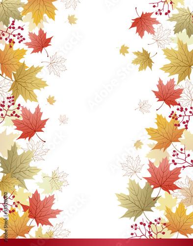 紅葉 もみじ 和柄 背景 Maple leaves corner background