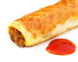 Chicken roll with tomato sauce