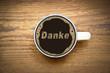 Danke im Kaffee