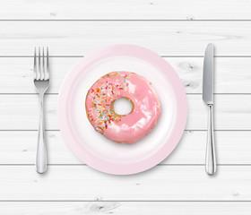 Donut auf Teller