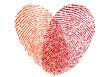 Obrazy na płótnie, fototapety, zdjęcia, fotoobrazy drukowane : red fingerprint heart, vector