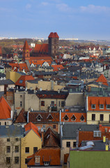 roofs of old town,  Torun, Poland