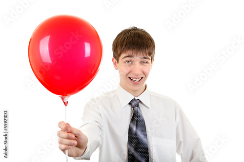 Young Man with Red Ball