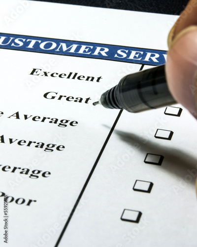 customer service check list with a check box