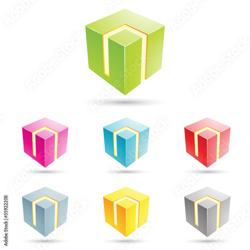 colorful cube icons
