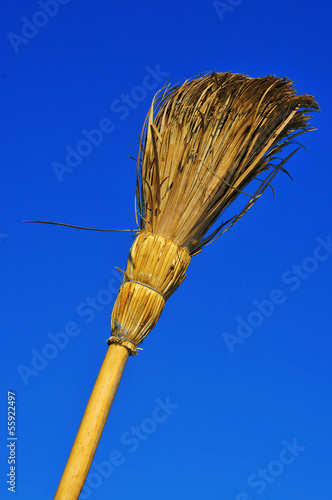 rustic broom
