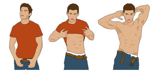 Latino Boy Striptease