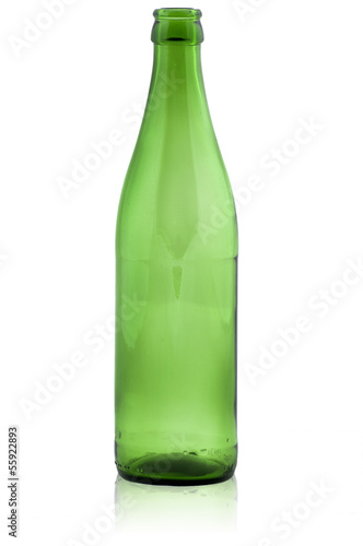 Green empty bottle - 55922893