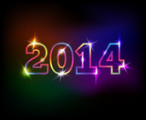 Fototapety 2014 year colorful background