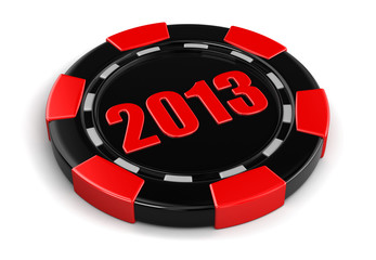casino chip 20123 (clipping path included)