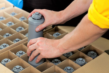 Packing water filters