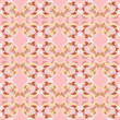 Gentle pink seamless pattern with swirls and curls