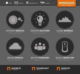 Vector webdesign icons and symbols