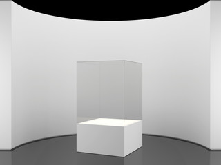 round wall with exhibition stand
