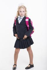 Happy school girl
