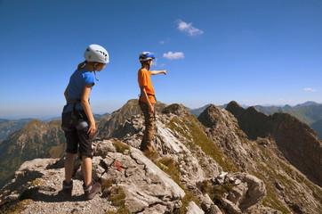 Kinder, Berge, Klettern