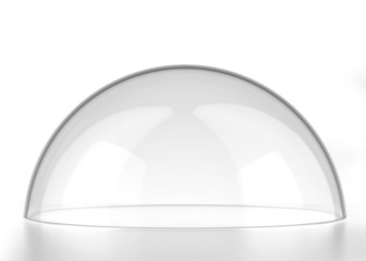 transparent semi-sphere