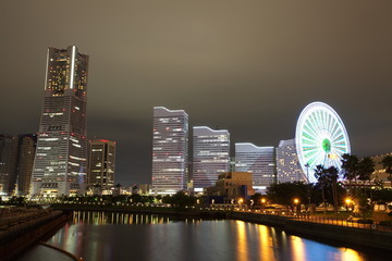 Yokohama skyline night view