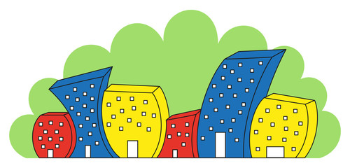 funny colored houses