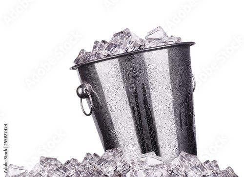 ice bucket isolated