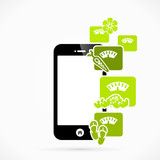 Health mobile phone applications vector illustration