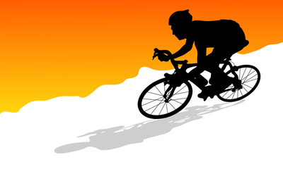 cycling siluate vector