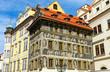 Beautiful historic buildings seen in Prague