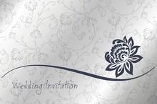 Waterlelie, trouwkaart ontwerp, India
