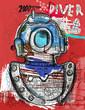Постер, плакат: Водолаз