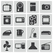 Vector black  home icons set