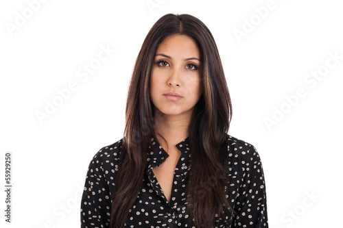 Disappointed business woman portrait