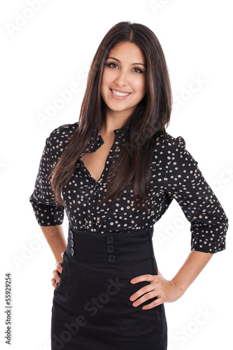 Beautiful mixed race businesswoman portrait